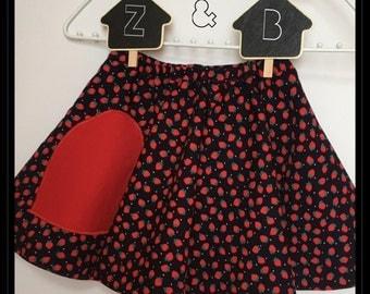 Girl's reversible circle skirt