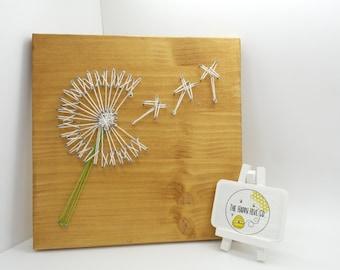 Customised Dandelion String Art Wall Decoration, Birthday, Anniversary, Wedding or Valentine's Day Gift