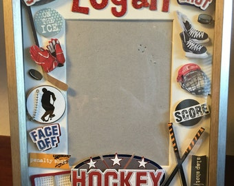 Personalized Hockey Theme Picture Frame