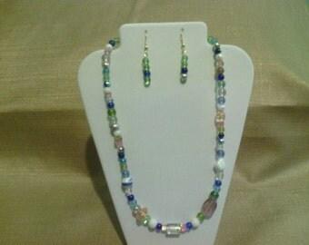 211 Bohemian Style Pastel Colored Glass Beads Beaded Choker