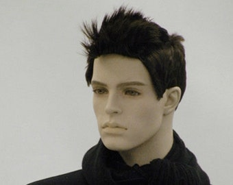 Male Wig Mannequin Black Straight Hair