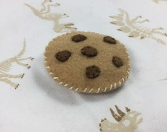 Hand Stitched Felt Mini Chocolate Chip Cookie