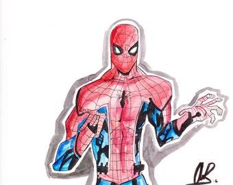 Spiderman Drawing (watercolor)