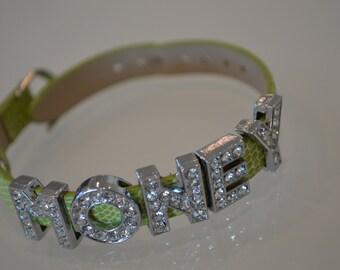 Silver Bling Bracelet - Money