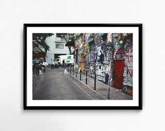 Rue Denoyez / Belleville / Paris / France / Analogue Photography / Decoration