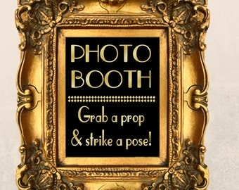 Printable Photo Booth Sign PDF