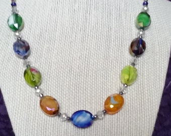 Glass Bead Multicolored Necklace