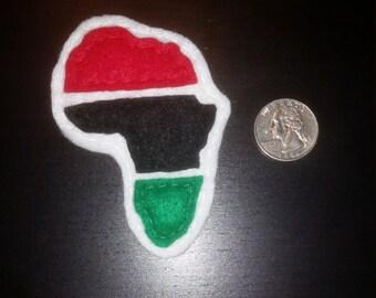 Africa Felt Pin