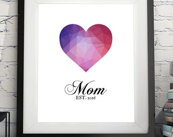 Mom Art, Mom Print, Mom Gifts, Mom To Be, Gifts For Moms, Photo Prop, Mother Gift, Pregnancy Reveal, Pregnancy Annoucement, Baby Shower Gift