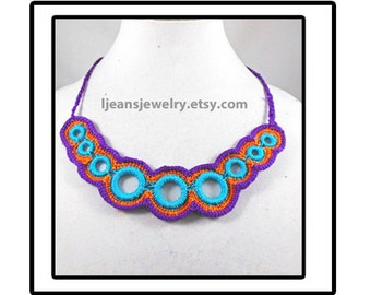 Crochet Ringed Necklace