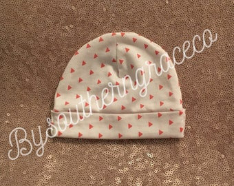 Coral Triangle Stretch Infant Hat/Newborn Hat/Jersey/Beanie/Baby Hat