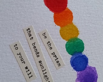 "OOAK ""be the prism"" Art Card Inspirational Motivational"