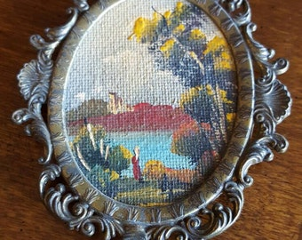 Vintage Miniature Painting signed by artist