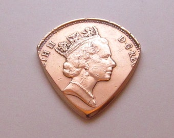 Coin Guitar Pick - English 2 Pence