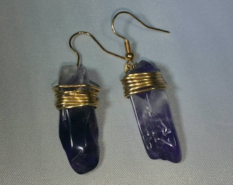 Amethyst with gold
