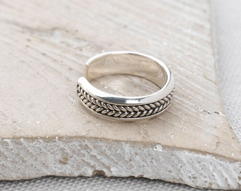 Handmade, Sterling Silver 925 Oxidised Toe Ring