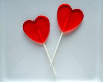 8 large heart lollipops wedding shower birthday valentine party favors candy - Valentine Lollipops