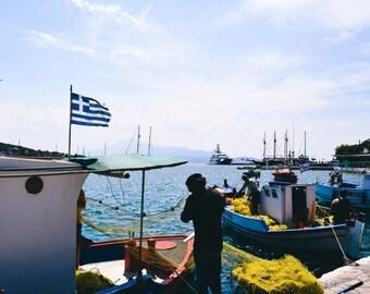Fisherman In Samos, Greece