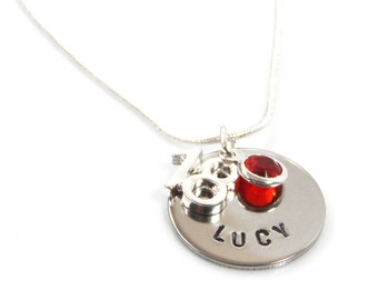 Personalised 18th Birthday Birthstone Necklace - Gift Boxed