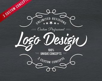 Logo Design, Logo Design, Watercolour Logo, whimsical logo, Flower Logo, Handdrawn Logo, Chalkboard Logo
