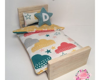 """Mini """"Clouds and stars"""" single quilt set"""