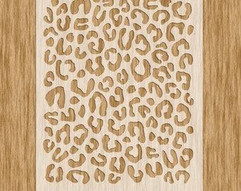 AP0100 - Leopard Spots Pattern Stencil