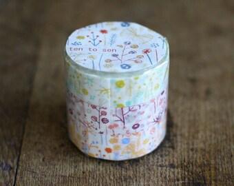 Masking Tape 3 pattern Japan washi masking tape sample - 50 cm per pattern - NOT whole roll