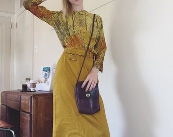 1960s Silk Button Up - buttons up the back!
