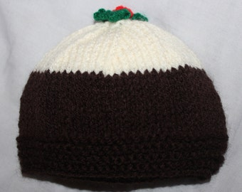 Knitted Christmas Pudding Hat (All sizes available from newborn to adult!)