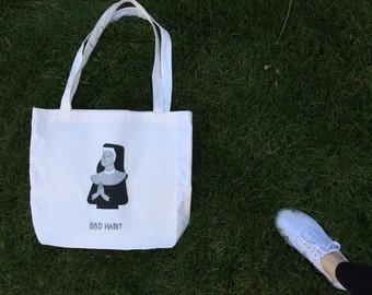 Bad Habit Nun Tote Bag