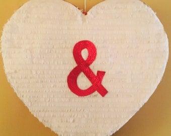 Ampersand Symbol Heart Pinata