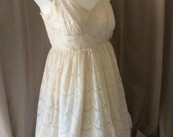 Mori Girl Cream Lace Dress