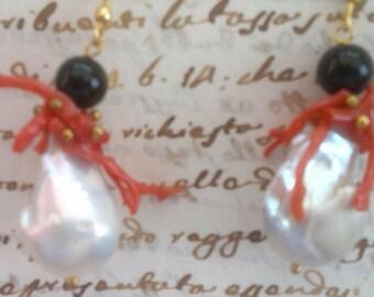 real pearls earrings scaramazze
