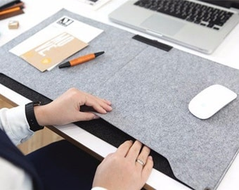Mouse Pad Pen Holder Wool Laptop Cushion Desk Mat Pad