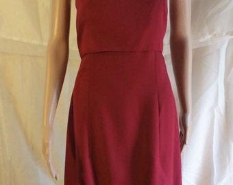 burgundy maxi-dress