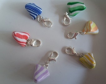 Charms drops of various colors