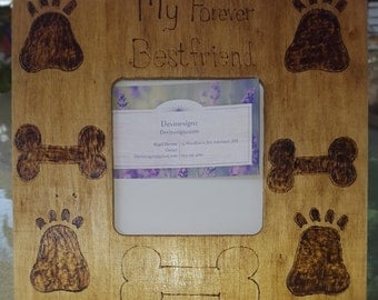 Dog picture frames- personalized animal picture frame, designed frames- home decor- gift-wooden frames- signs- customized signs