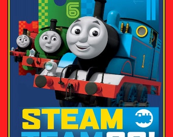 Thomas the Train Steam Team Fabric Panel From Quilting Treasures