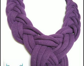Recycled handmade textile necklace