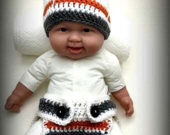 Crochet Baby BB-8 Hat and Diaper Cover Set
