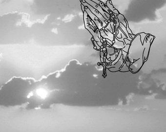 Vinyl Praying Hands | vinyl decal | sticker | religion | pray | home decor |