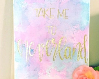 Take Me to Neverland Canvas