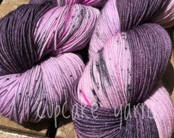 Plum Pudding, Hand Dyed Sock Yarn, Self-Striping