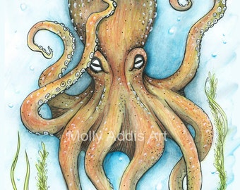 A4 Octopus Print