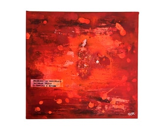 Madness - Acrylic painting abstract art red orange