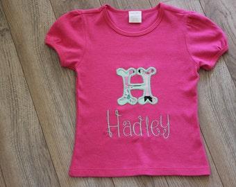 Child's Applique Shirt w/ name
