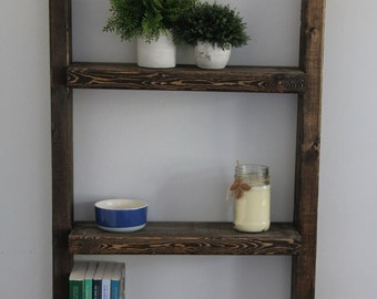 Rustic hanging shelf
