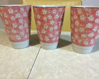 Vintage Japanese tall cups