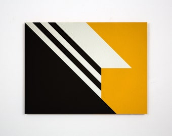 Original Modernist style abstract hard edge painting (No #230)
