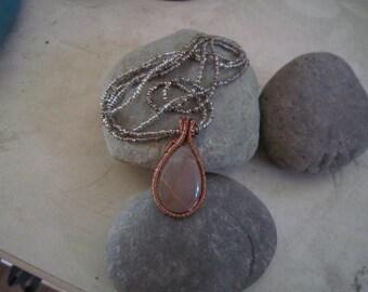 wirewrapped agate pendant